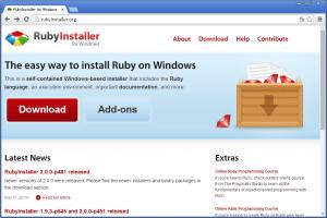 RubyInstaller のホームページ